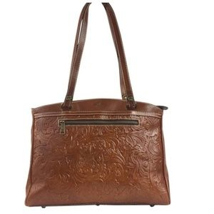 Patricia Nash Poppy Tooled Florence Handbag